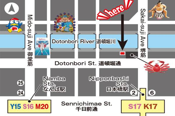 Dotonbori Wonder Ticket Office Map